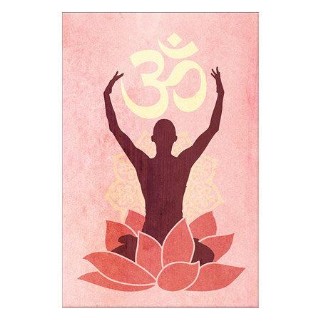 Icanvas Om Lotus Flower Graphic Art Print On Canvas In Pink Wayfair