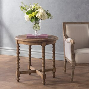 Mosca-Hooper Wooden End Table by Bungalow Rose