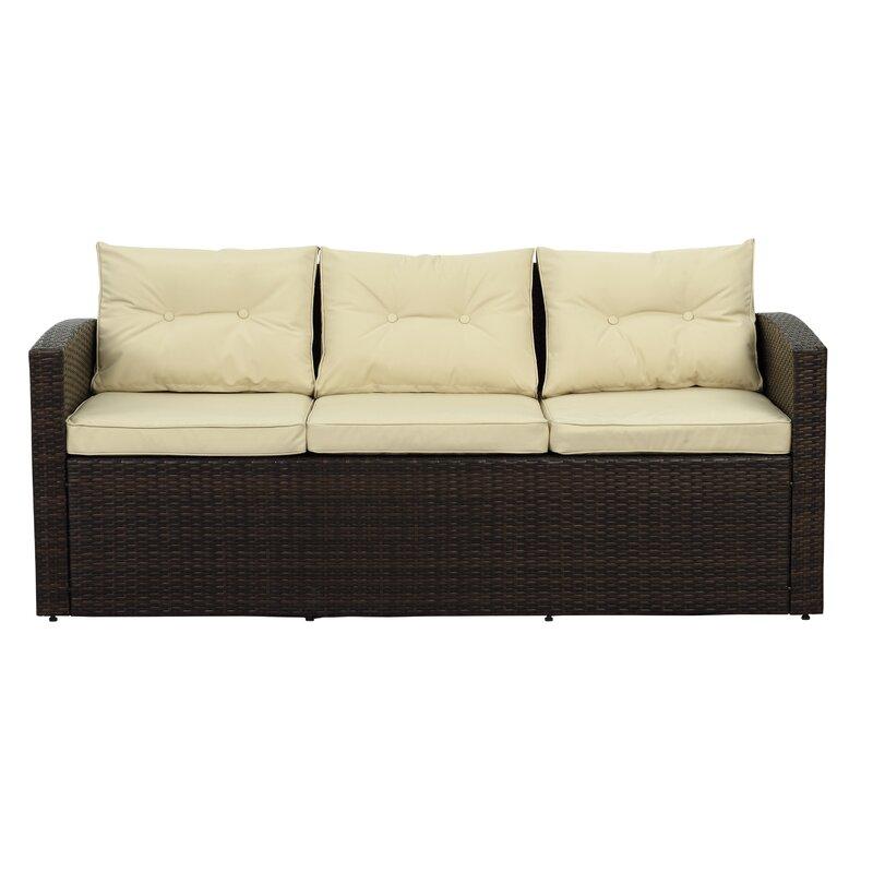 Sol 72 Outdoor Arlington 4 Piece Rattan Sofa Seating Group with ...