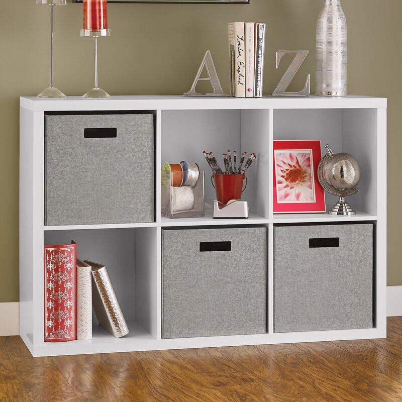 Portable And Closed Storage : Closetmaid decorative storage quot cube unit bookcase