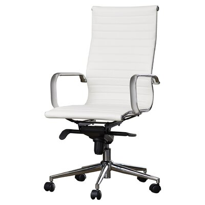 Brayden Studio Kingston Desk Chair Upholstery: White