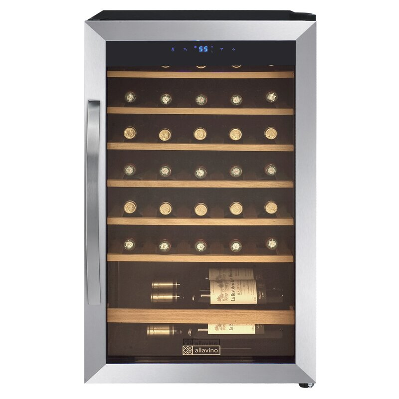 Allavino 34 Bottle Cascina Single Zone Freestanding Wine Cooler