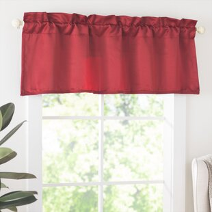 Red Valances Kitchen Curtains