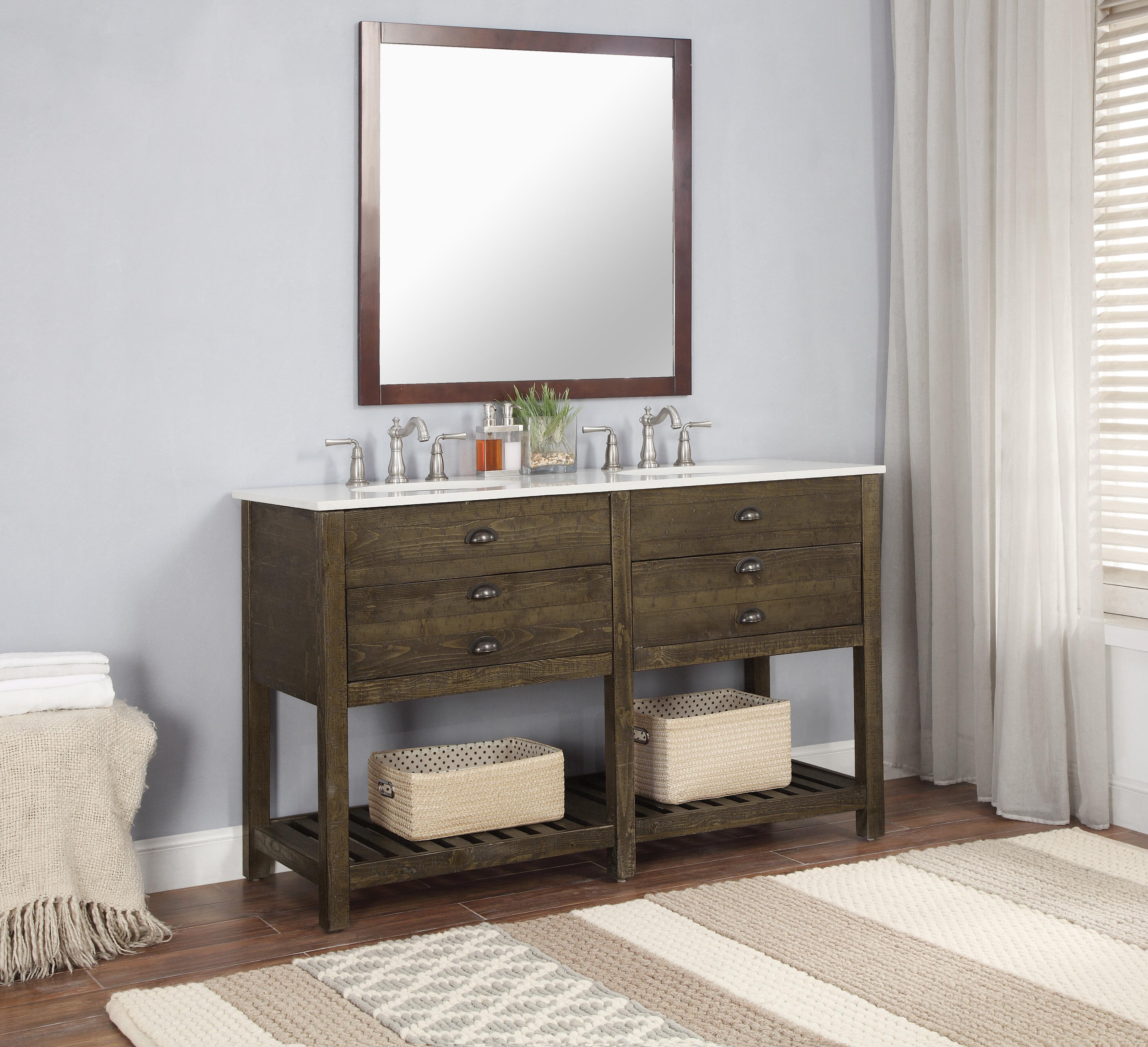 Mercer41 Lafave 2 Drawer 57 Double Bathroom Vanity Reviews Wayfair