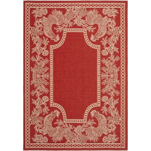 Laurel Red/Natural Indoor/Outdoor Rug
