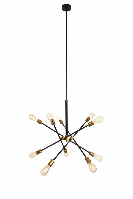 Burkley 10 light sputnik chandelier reviews allmodern burkley 10 light sputnik chandelier aloadofball Choice Image