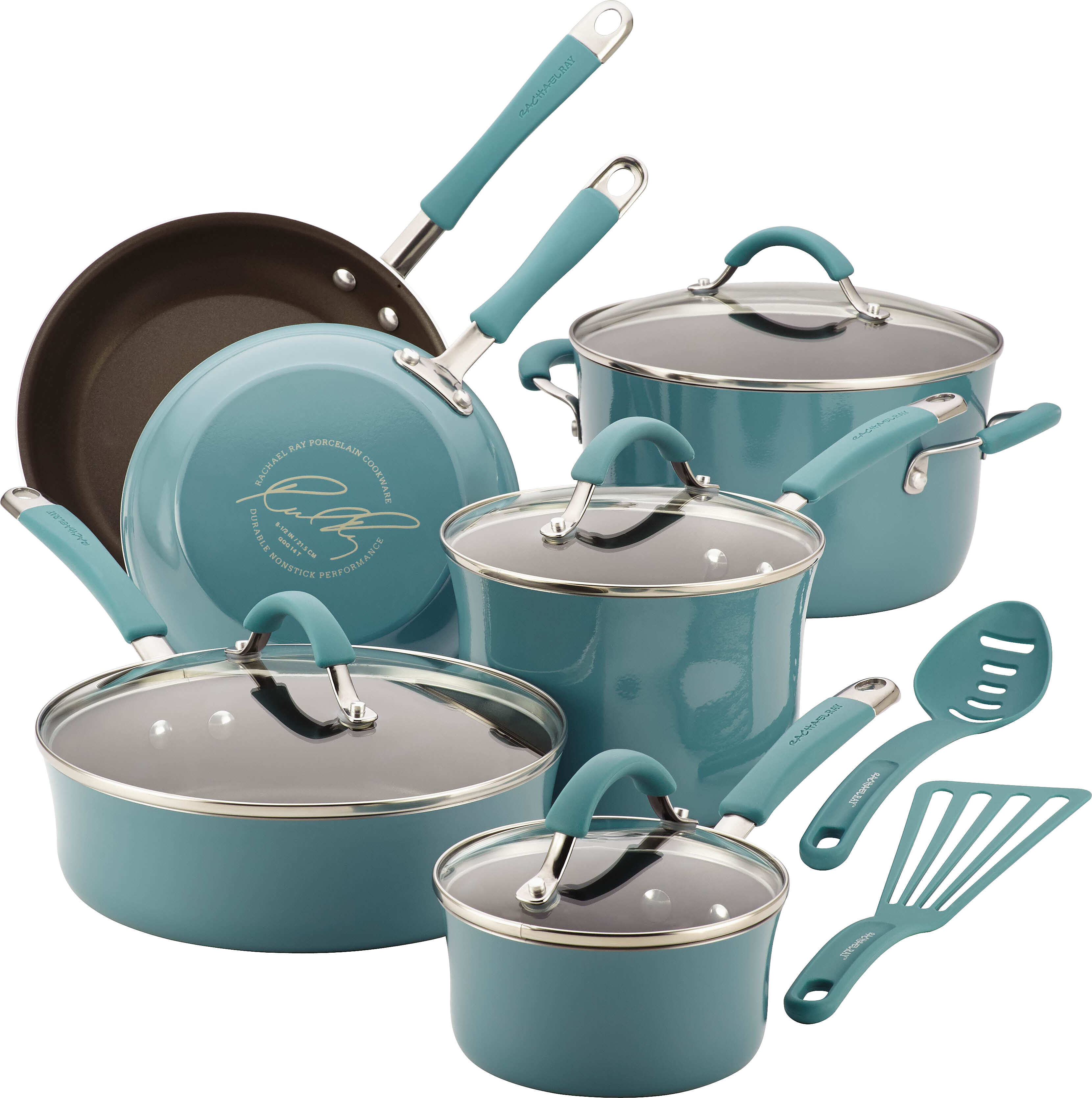 Rachael Ray Cucina 12 Piece Non- Stick Cookware Set & Reviews | Wayfair