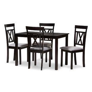 Attleboro 5 Piece Dining Set