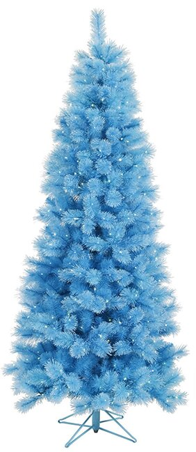 75 blue mixed pine cashmere artificial christmas tree with clear lights - Christmas Tree With Blue Lights