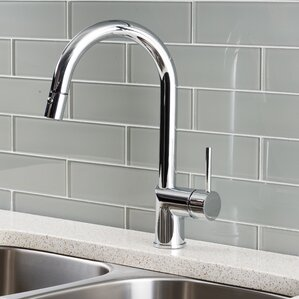 Hahn Deck Mounted Single Handle Pull Down Kitchen Faucet