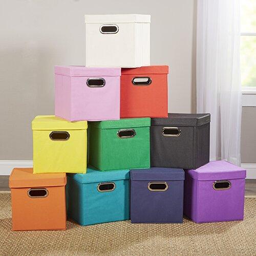 Kids Room Bedroom Storage Chest Unit Box With Lid For Sale: Wayfair Basics™ Wayfair Basics Cube Crate & Reviews