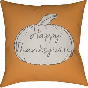 Happy Thanksgiving Indoor/Outdoor Throw Pillow