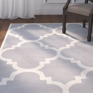 Charlenne Wool Silver/Ivory Area Rug