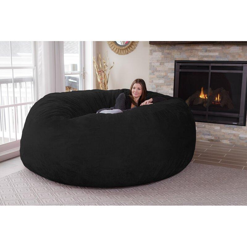 Laude Run Microsuede Bean Bag Sofa