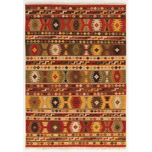 Sivas Handmade Kilim Wool/Cotton Red/Yellow Rug by Home Loft Concept