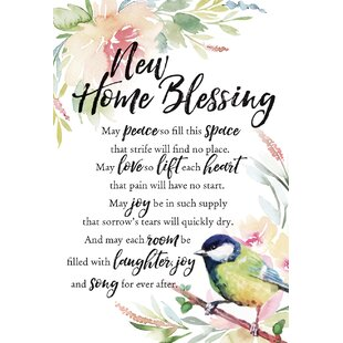 New home blessing wayfair woodland grace new home blessing textual art on wood m4hsunfo