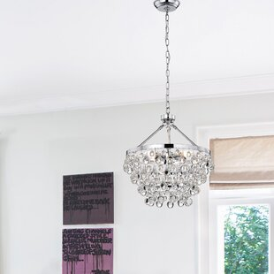 Crystal chandeliers youll love wayfair ahern 5 light crystal chandelier aloadofball Image collections