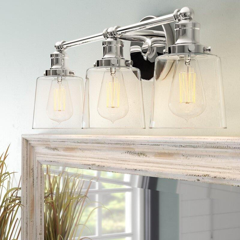 Beachcrest Home Woodburn 3-Light Vanity Light & Reviews | Wayfair