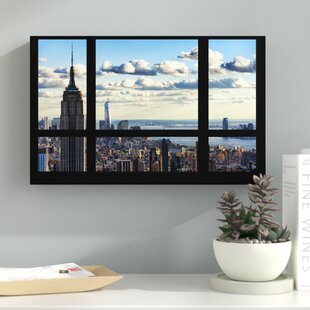 Window View Manhattan Photographic Print On Wred Canvas