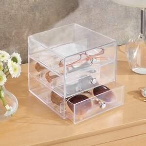 Clarity Eyeglass Sunglasses Cosmetic Organizer