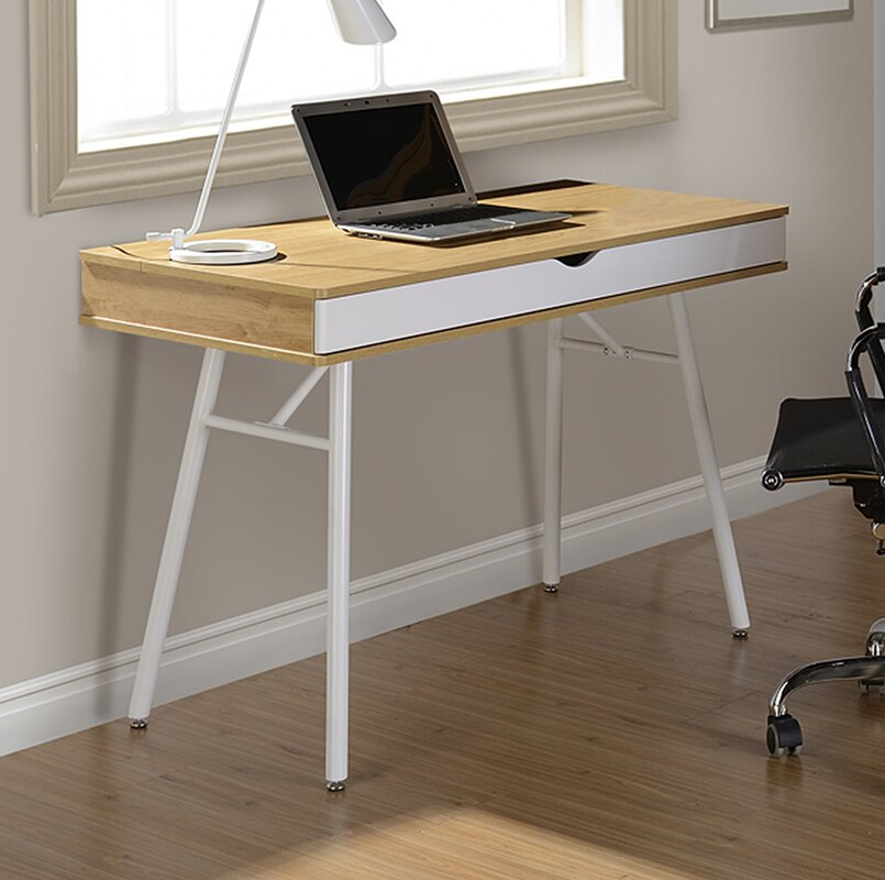 Workstation With Cord Management And Storage Writing Desk
