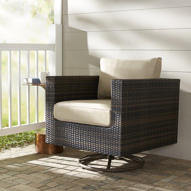 Brayden Studio Lara Patio Chair with Cushion & Reviews | Wayfair