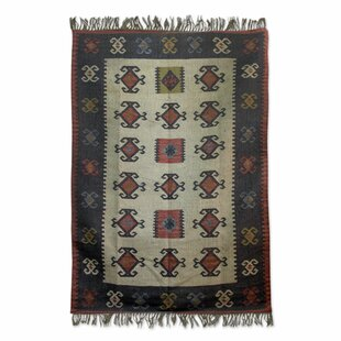 Fair Trade Multicolored Natural Wonders Expertly Hand Woven Indian Wool Home Decor Area Rug