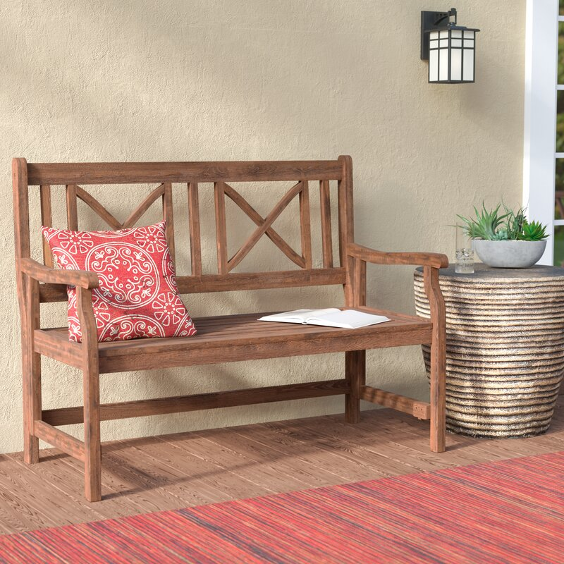 World Menagerie Conner Folding Acacia Wood Garden Bench Reviews Wayfair