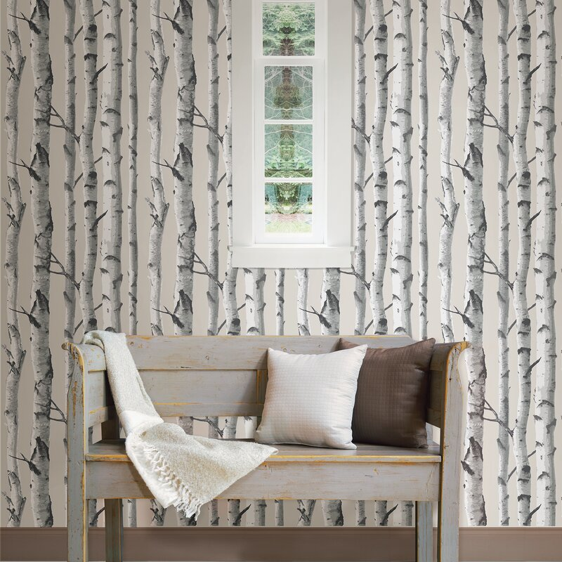 Wallpops Birch Tree 18 X 20 5 Quot Peel And Stick Wallpaper