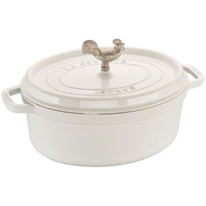 coq au vin cast iron oval cocotte with lid - Staub Dutch Oven