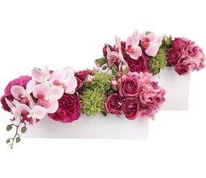 Hydrangeas/Orchids/Roses/Mixed Floral Arrangement in Decorative Vase