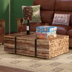 Superior Teak Strapped Coffee Table by Loon Peak