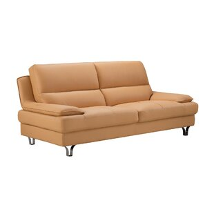 Genial Mustard Yellow Leather Sofa | Wayfair