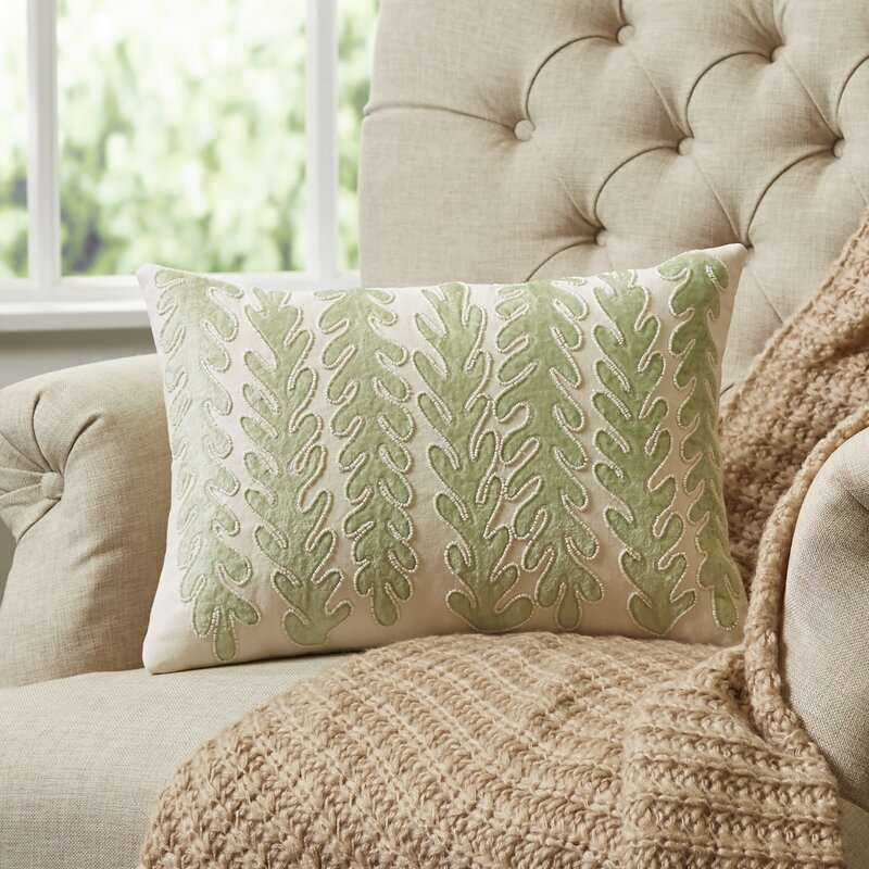 Richwood Subdued Sea Green Lumbar Pillow Cover