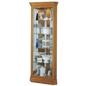 Hammond Lighted Corner Curio Cabinet by H..