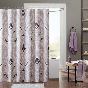 purple and brown shower curtain. Sasha Cotton Shower Curtain Modern Purple Curtains  AllModern