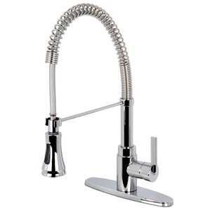 Kingston Brass Continental Gourmetier Single Handle Pull-Down Spray Kitchen Faucet