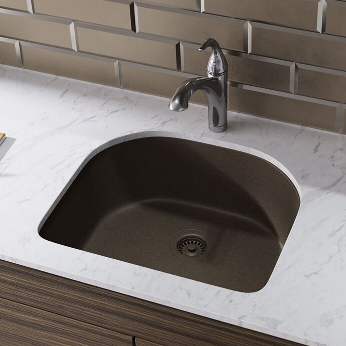 Granite Composite Undermount Kitchen Sinks Renbyelkay granite composite 25 x 22 undermount kitchen sink with granite composite 25 x 22 undermount kitchen sink with hardware workwithnaturefo