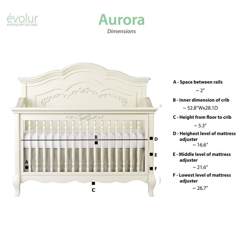 Evolur Aurora 5 In 1 Convertible Crib Reviews Wayfair