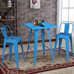 3 Piece Pub Table Set by AC Pacific