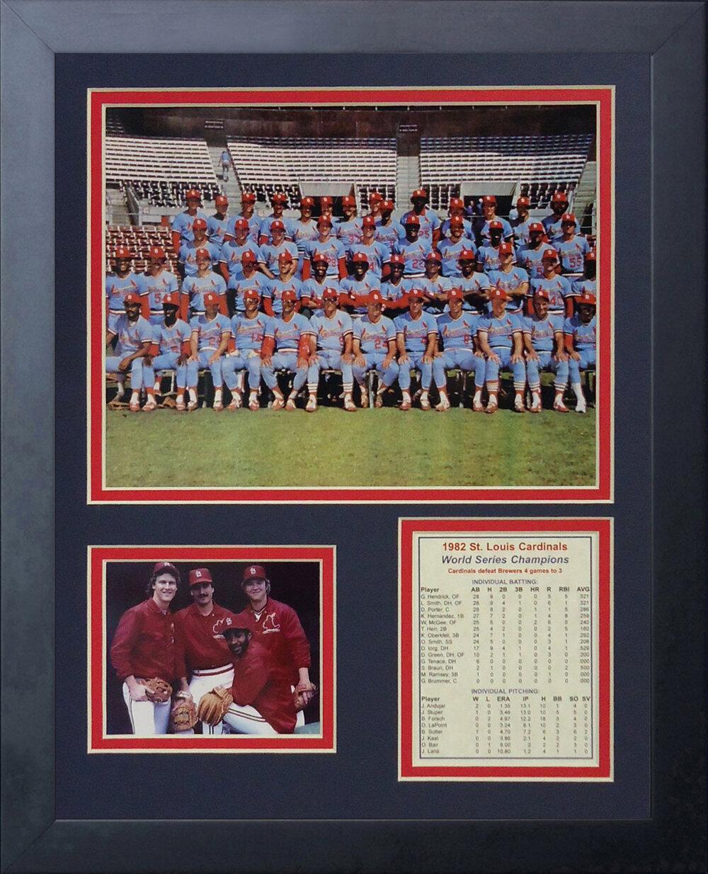 Legends Never Die 1982 St Louis Cardinals Framed Photographic Print