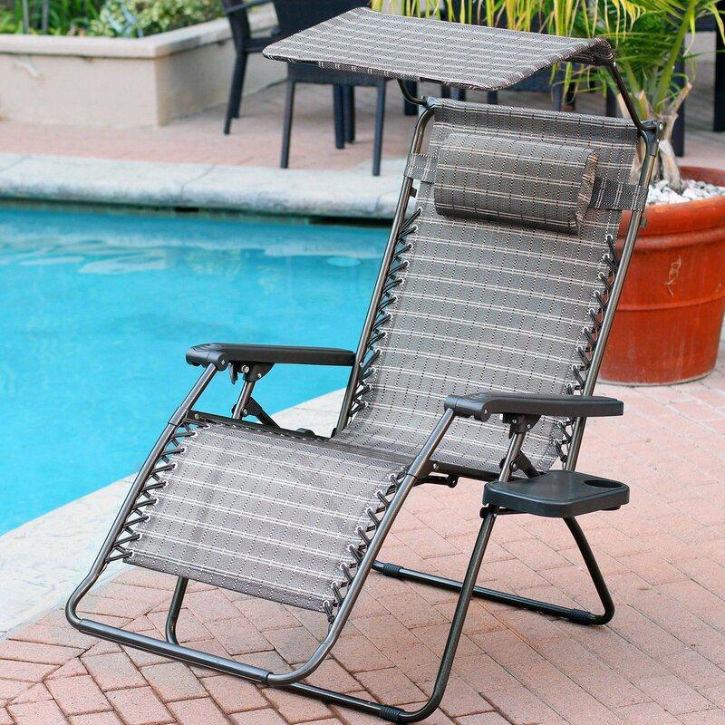 Brayden Studio Johns Folding Zero Gravity Chair Amp Reviews