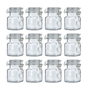Mini Clip Top Glass Canning Jar Set (Set Of 12)