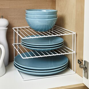 Macy 3 Tier Kitchen Cupboard Plate Organiser Dish Rack