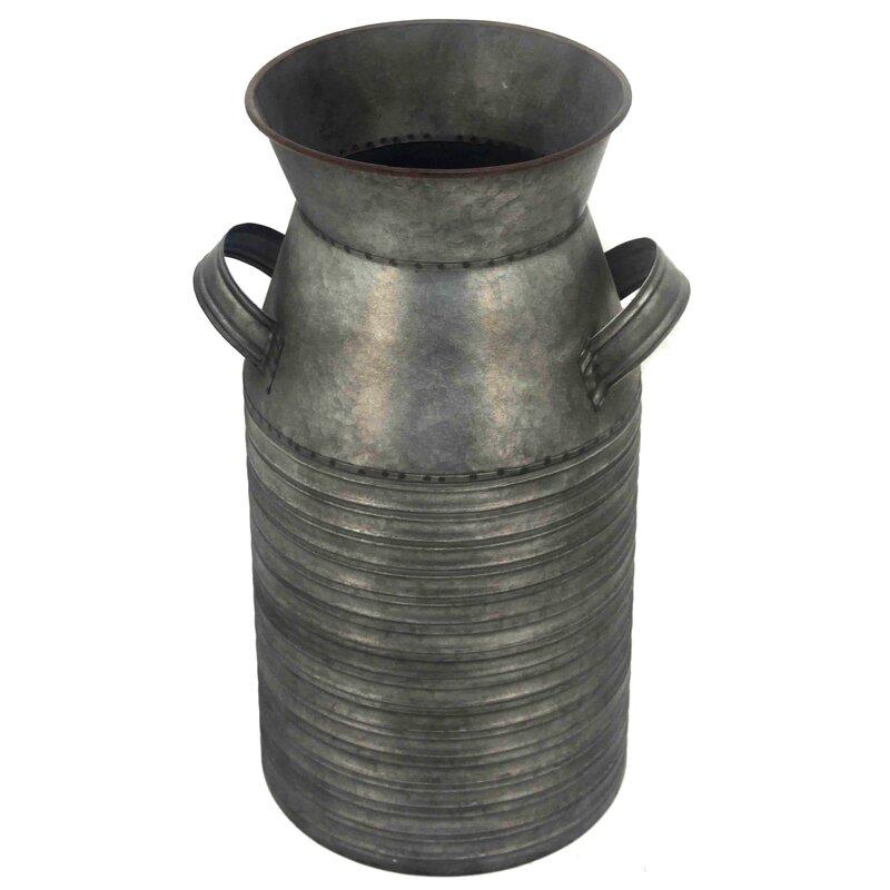 Laurel Foundry Modern Farmhouse Galvanized Metal Table Vase