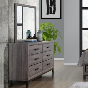 Jerold 6 Drawer Dresser with Mirror by Williston Forge