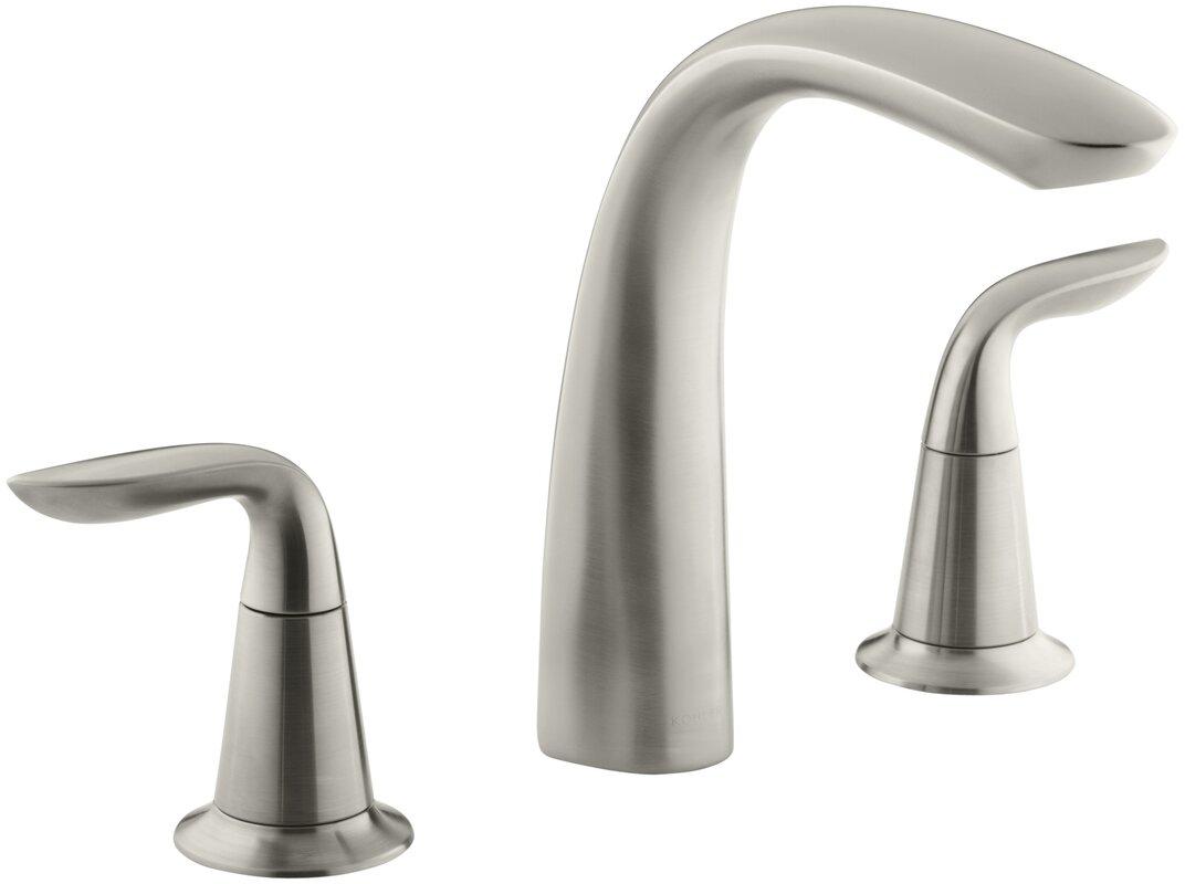 Bathroom Faucet Not Flowing kohler refinia bath faucet trim for high-flow valve with lever