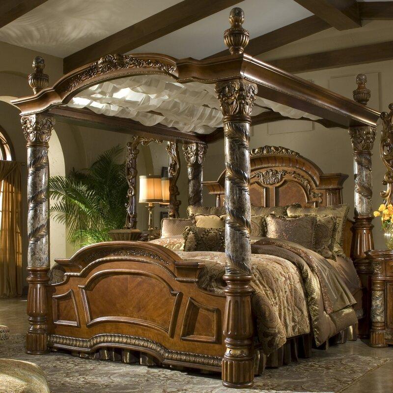 villa valencia canopy configurable bedroom set - Marble Canopy 2015