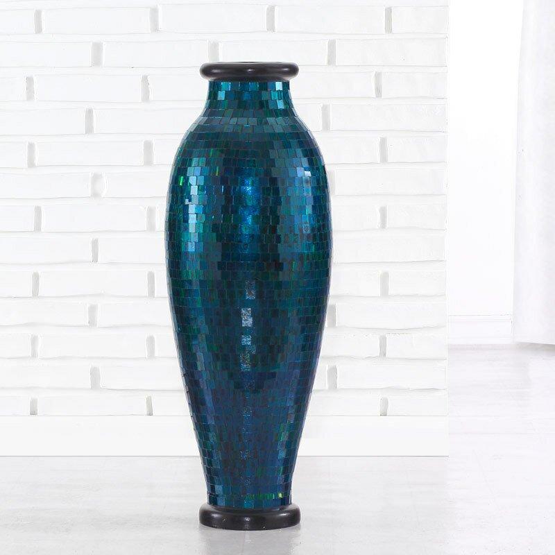 Mosaic Urn Floor Vase