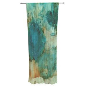 Waterfall by Rosie Brown Abstract Sheer Rod Pocket Curtain Panels (Set of 2)